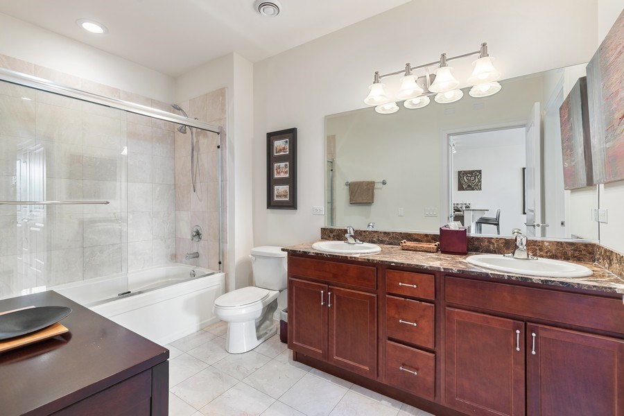 Real Estate Photography - 3300 W Irving Park Rd, Unit B3, Chicago, IL, 60618 - Master Bathroom