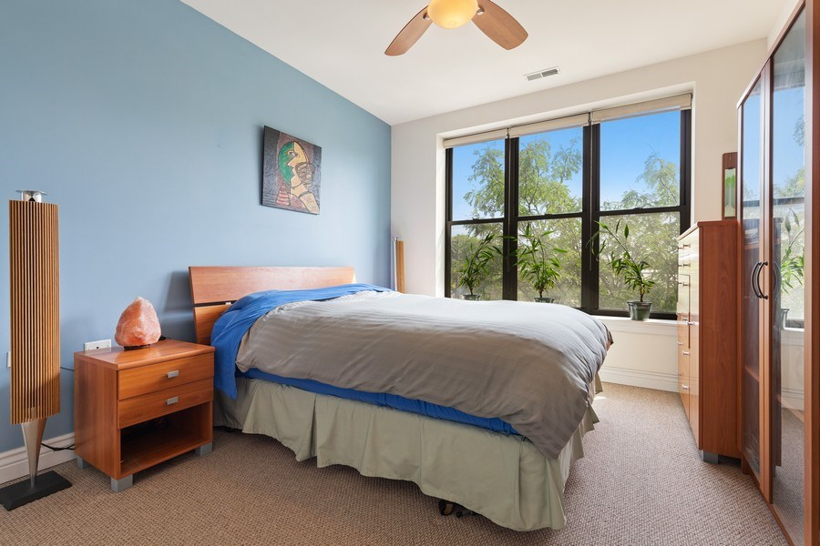 Real Estate Photography - 3300 W Irving Park Rd, Unit B3, Chicago, IL, 60618 - Master Bedroom