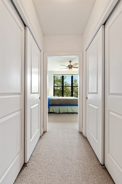 Real Estate Photography - 3300 W Irving Park Rd, Unit B3, Chicago, IL, 60618 - Master Bedroom Closet
