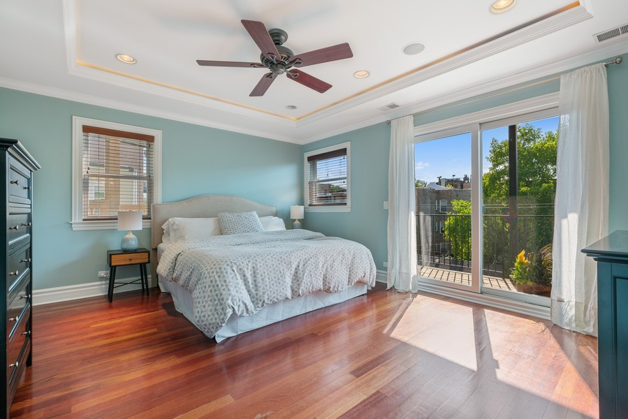 Real Estate Photography - 3652 N Fremont, Unit 3, Chicago, IL, 60613 - Master Bedroom