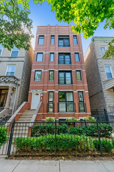 Real Estate Photography - 3652 N Fremont, Unit 3, Chicago, IL, 60613 - Front View
