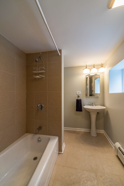 Real Estate Photography - 105 Imperial, Park Ridge, IL, 60068 - Basement Bathroom