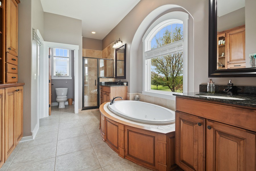 Real Estate Photography - 13113 Charleston St, Caledonia, IL, 61011 - Master Bathroom