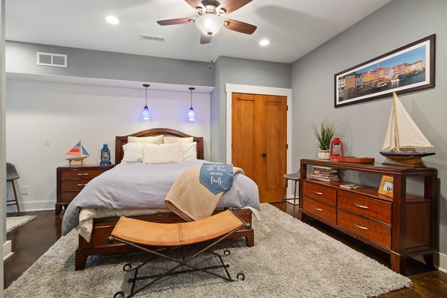 Real Estate Photography - 13113 Charleston St, Caledonia, IL, 61011 - Guest Bedroom
