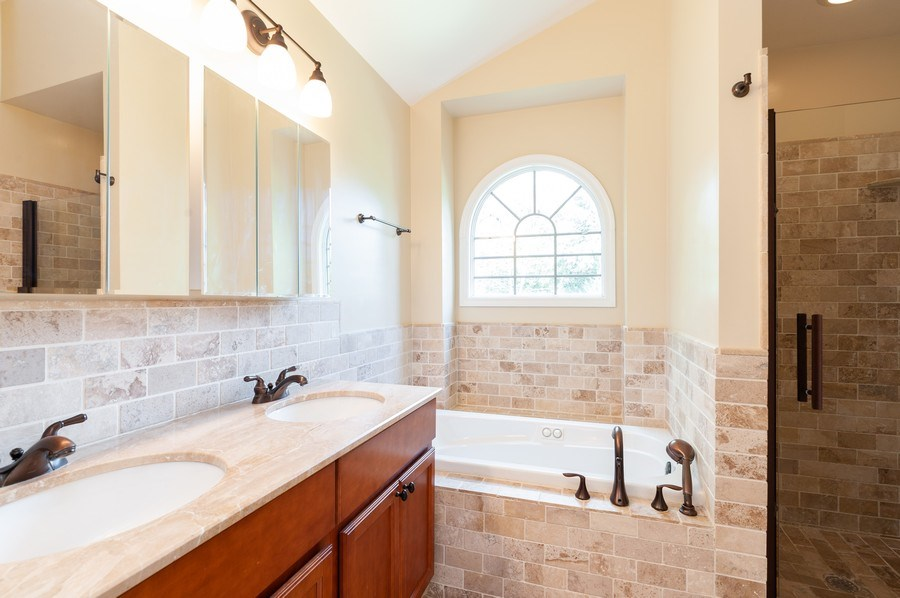 Real Estate Photography - 128 Bluff Ave, Grayslake, IL, 60030 - Master Bathroom