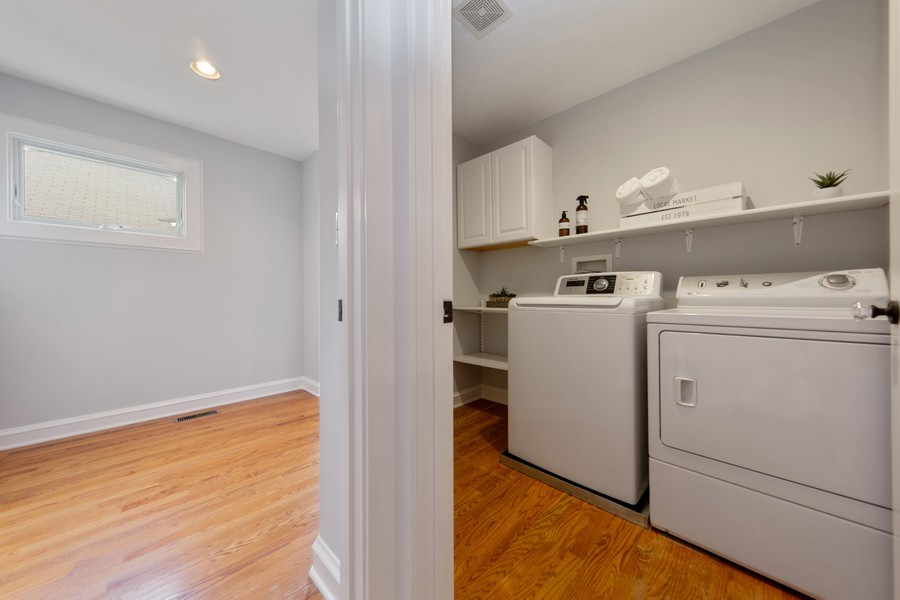 Real Estate Photography - 285 N Main St, Glen Ellyn, IL, 60137 - Laundry Room.  Upstairs laundry, for the upmost co