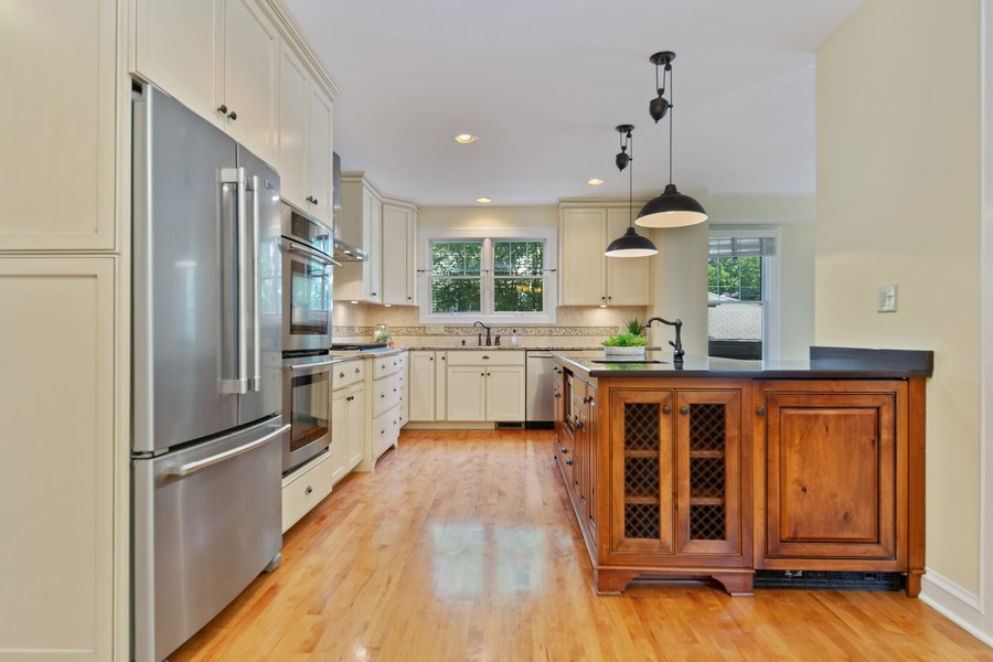 Real Estate Photography - 285 N Main St, Glen Ellyn, IL, 60137 - Kitchen.  All the ammenties, including an extra be