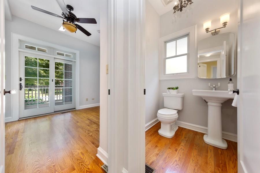 Real Estate Photography - 285 N Main St, Glen Ellyn, IL, 60137 - First Floor 1/2 bath