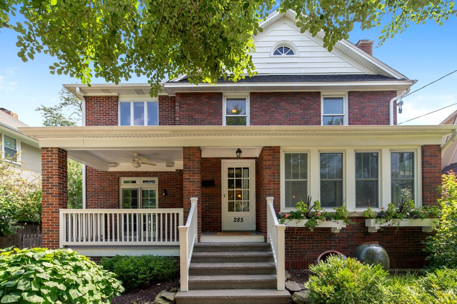 Real Estate Photography - 285 N Main St, Glen Ellyn, IL, 60137 - Exterior Front View.  Gorgeous Brick Home, in the