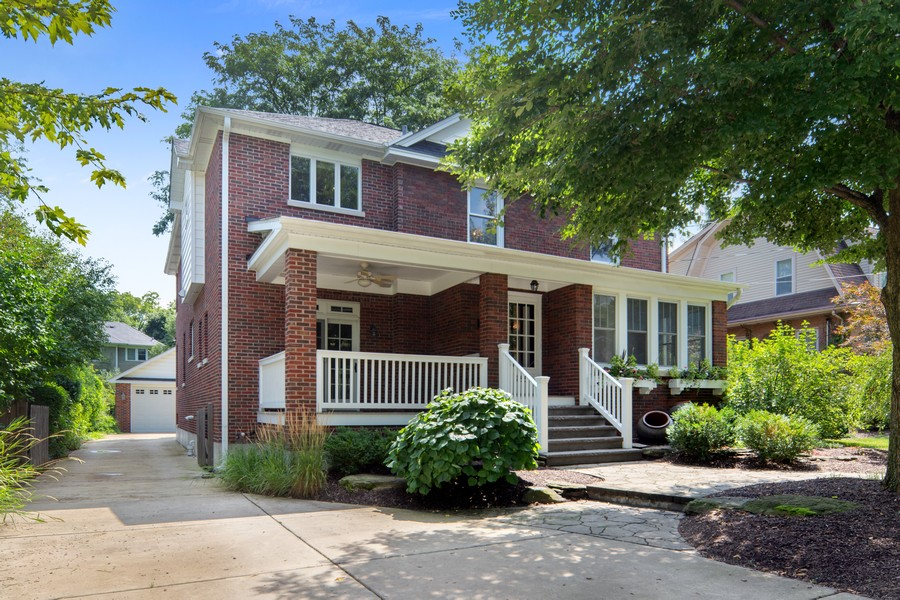 Real Estate Photography - 285 N Main St, Glen Ellyn, IL, 60137 - Exterior Front View.  Street View. Double wide dri