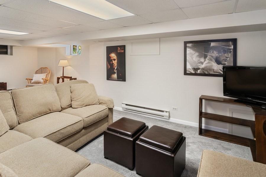 Real Estate Photography - 540 Linden, Oak Park, IL, 60302 - Finished Basement Rec Room