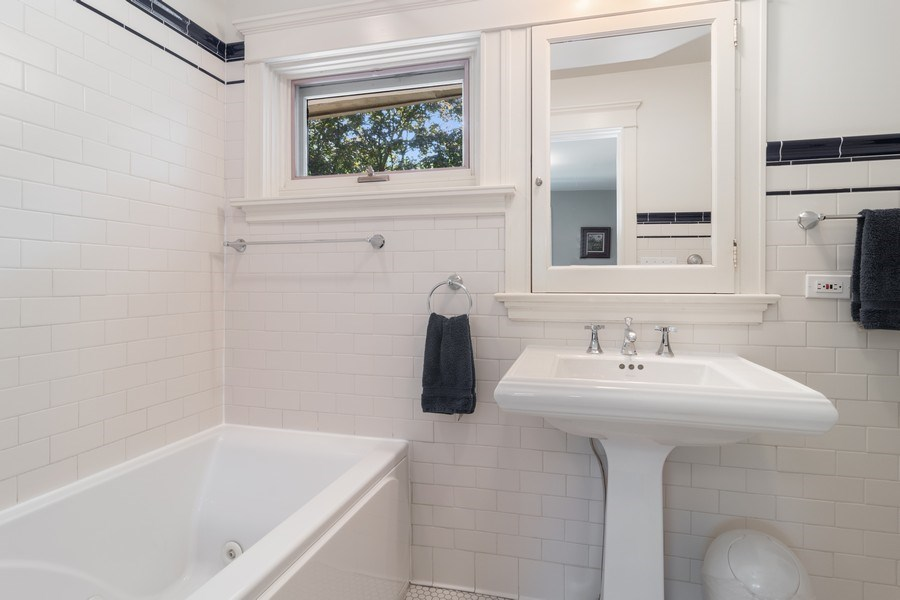 Real Estate Photography - 540 Linden, Oak Park, IL, 60302 - Bathroom