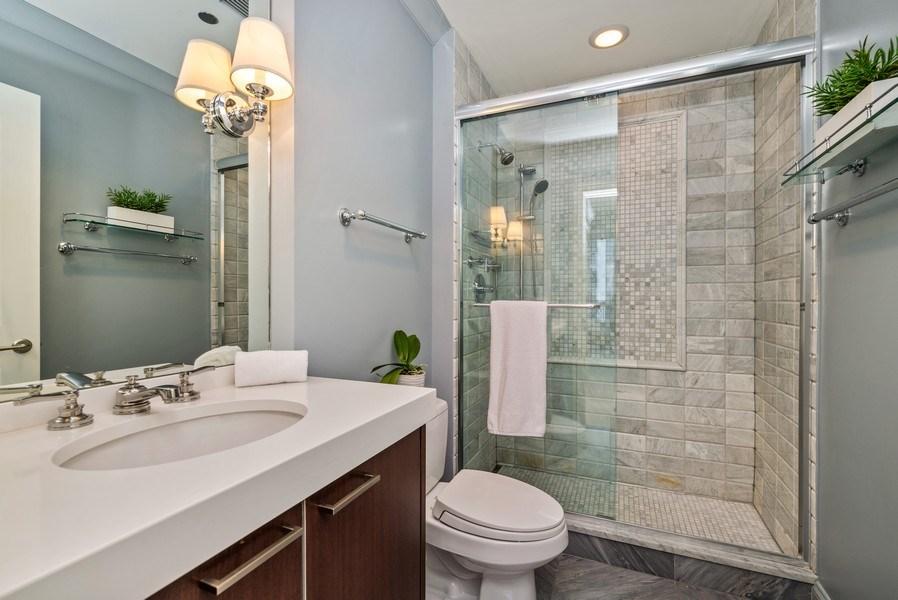 Real Estate Photography - 10 E Delaware Pl, 14D, Chicago, IL, 60611 - 3rd Bathroom