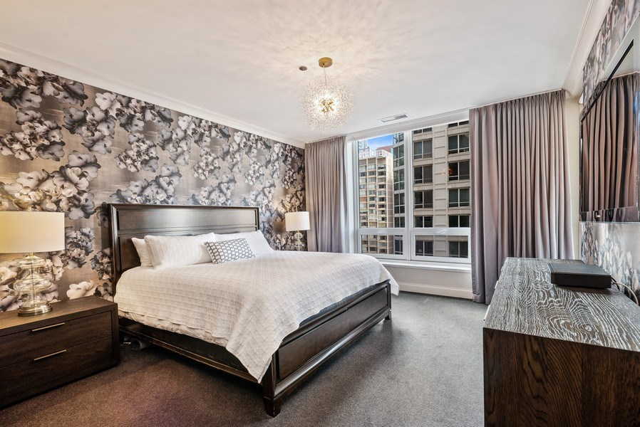 Real Estate Photography - 10 E Delaware Pl, 14D, Chicago, IL, 60611 - Master Bedroom