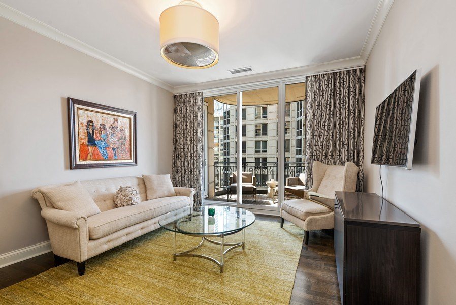 Real Estate Photography - 10 E Delaware Pl, 14D, Chicago, IL, 60611 - 2nd Bedroom