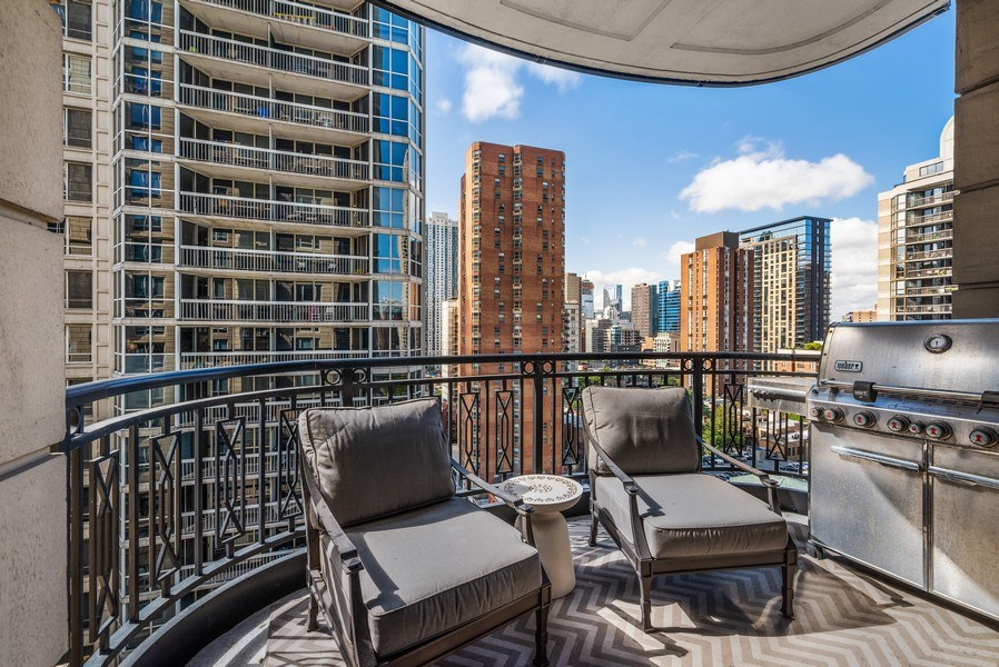 Real Estate Photography - 10 E Delaware Pl, 14D, Chicago, IL, 60611 - Balcony