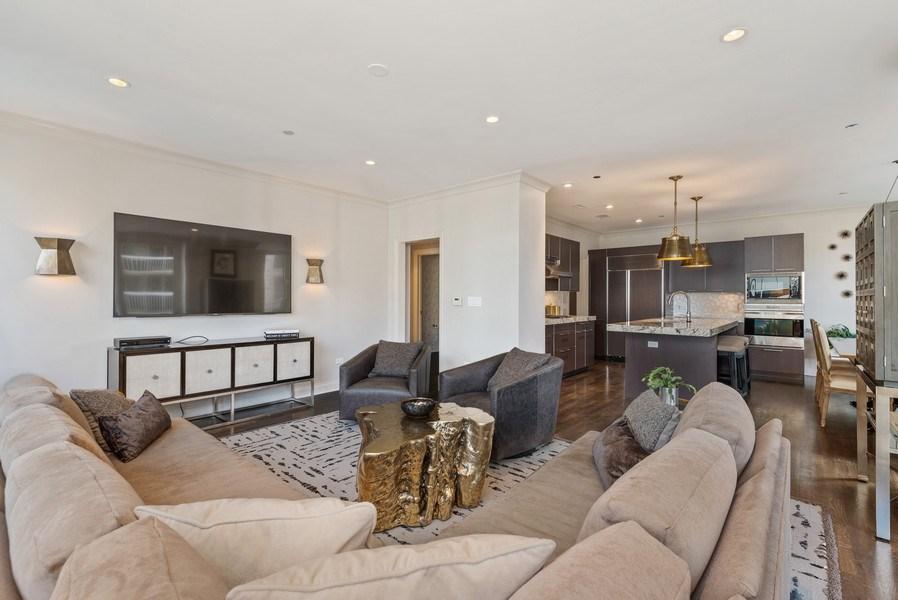 Real Estate Photography - 10 E Delaware Pl, 14D, Chicago, IL, 60611 - Kitchen/Living