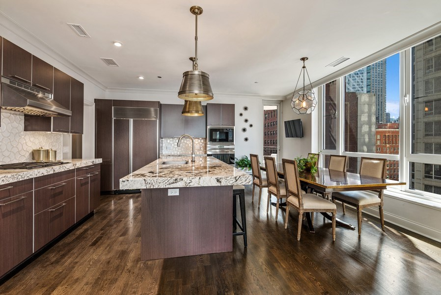 Real Estate Photography - 10 E Delaware Pl, 14D, Chicago, IL, 60611 - Kitchen / Dining Room