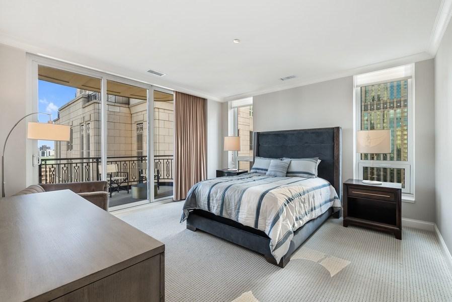 Real Estate Photography - 10 E Delaware Pl, 27B, Chicago, IL, 60611 - Master Bedroom