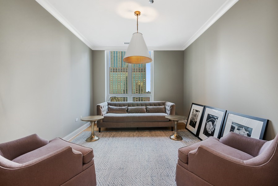 Real Estate Photography - 10 E Delaware Pl, 27B, Chicago, IL, 60611 - Den