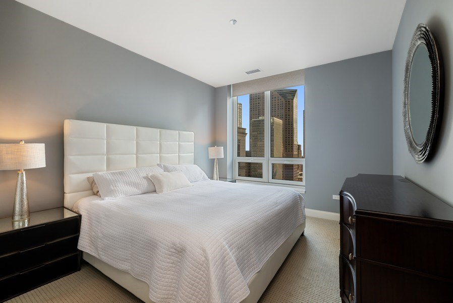 Real Estate Photography - 10 E Delaware Pl, 27B, Chicago, IL, 60611 - 2nd Bedroom