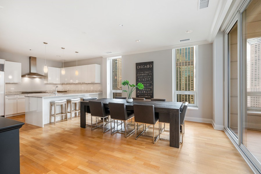 Real Estate Photography - 10 E Delaware Pl, 27B, Chicago, IL, 60611 - Dining Room