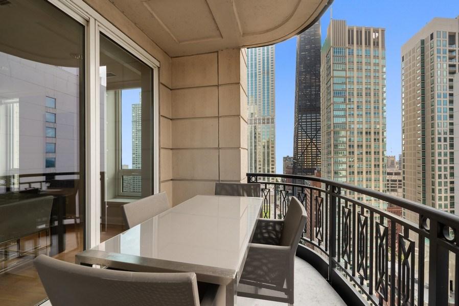 Real Estate Photography - 10 E Delaware Pl, 27B, Chicago, IL, 60611 - Balcony