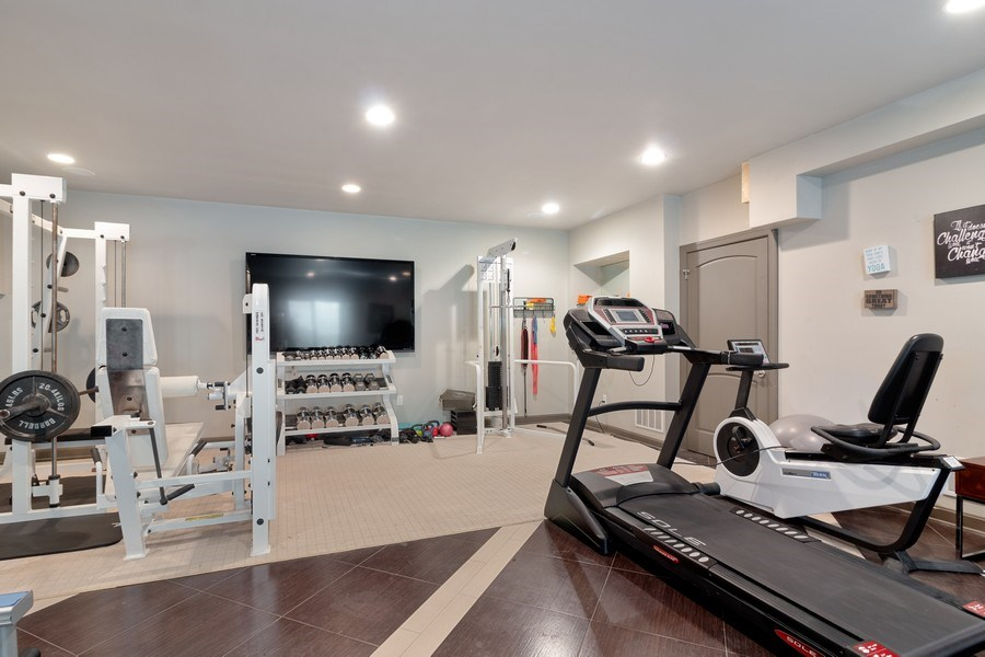 Real Estate Photography - 3411 Michigan Blvd, Racine, WI, 53402 - Gym