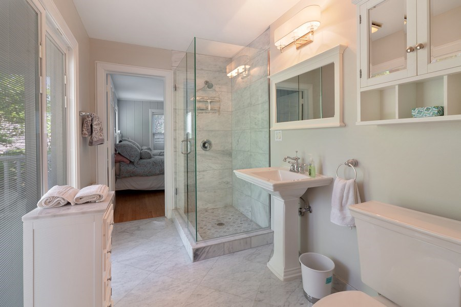 Real Estate Photography - 3411 Michigan Blvd, Racine, WI, 53402 - 2nd Bathroom