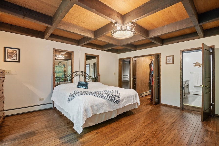 Real Estate Photography - 32433 N. Forest Dr., Grayslake, IL, 60030 - Master Bedroom with Full Bath