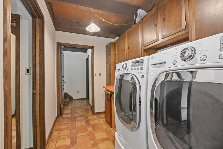 Real Estate Photography - 32433 N. Forest Dr., Grayslake, IL, 60030 - Laundry Room * Nearby Den not shown