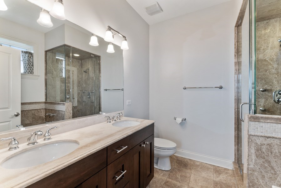 Real Estate Photography - 2060 N. Stave, #1, Chicago, IL, 60647 - Master Bathroom
