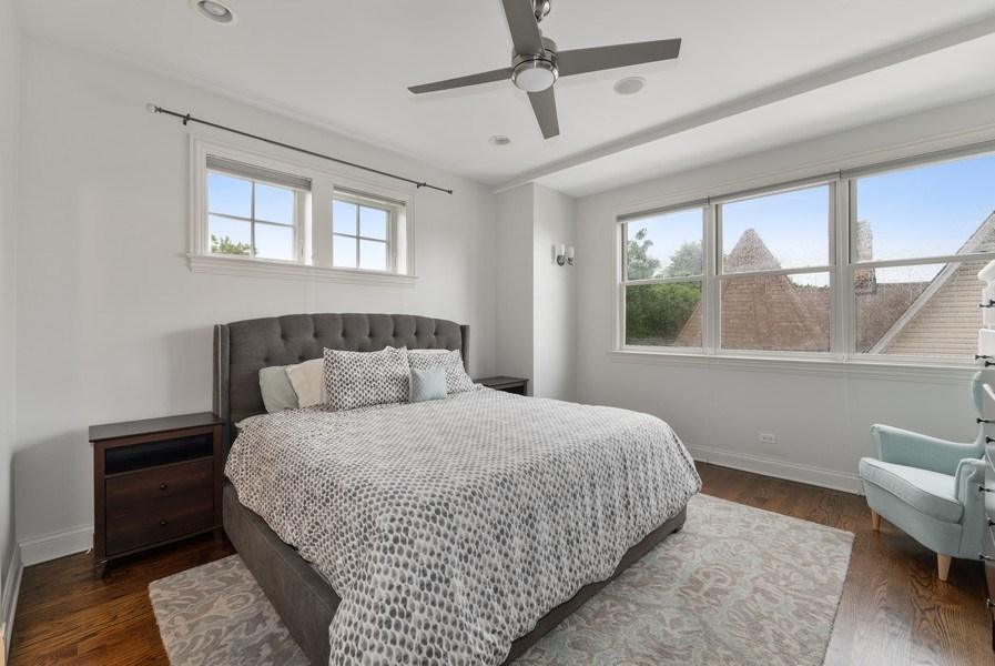 Real Estate Photography - 2060 N. Stave, #1, Chicago, IL, 60647 - Master Bedroom