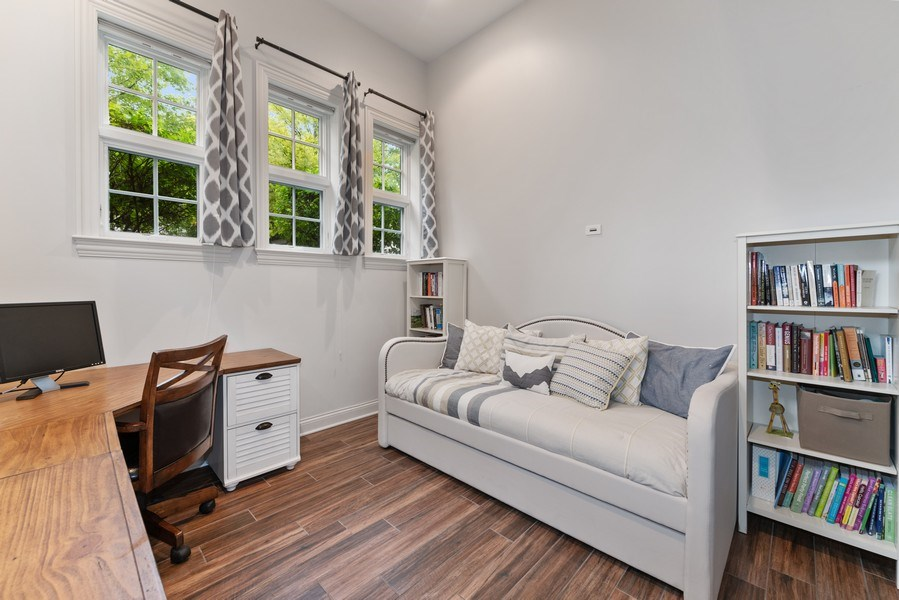 Real Estate Photography - 2060 N. Stave, #1, Chicago, IL, 60647 - Fourth Bedroom / Family Room