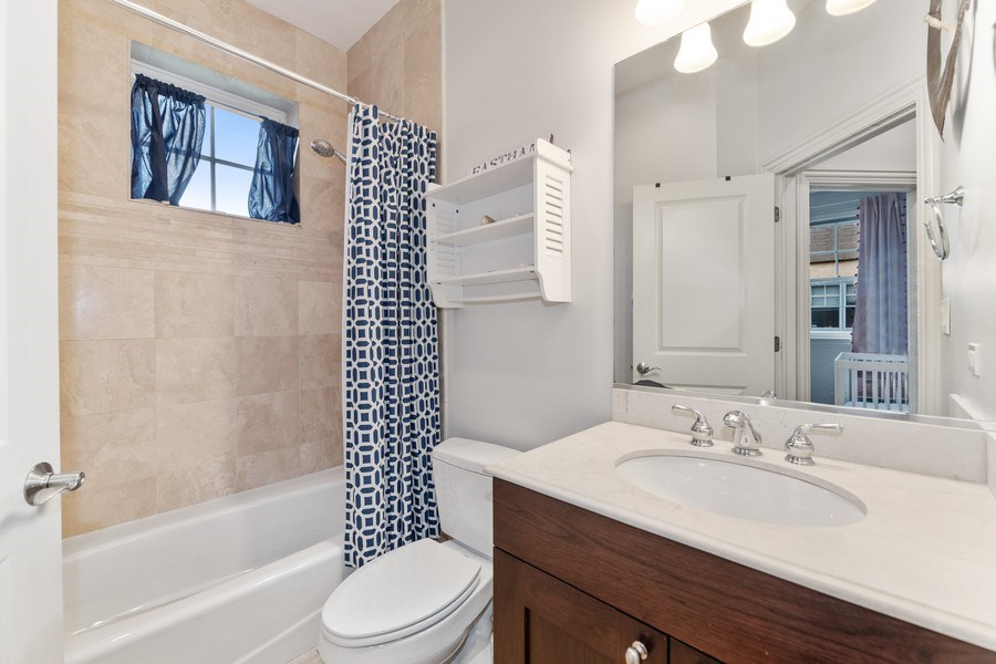 Real Estate Photography - 2060 N. Stave, #1, Chicago, IL, 60647 - Second Bathroom