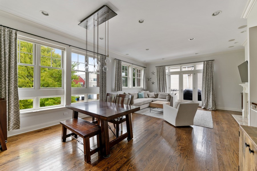 Real Estate Photography - 2060 N. Stave, #1, Chicago, IL, 60647 - Living Room / Dining Room