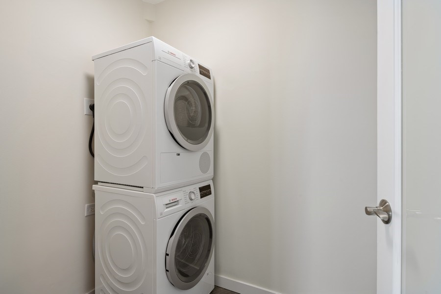 Real Estate Photography - 505 N Lake Shore Dr, Unit 6504, Chicago, IL, 60611 - Laundry Room