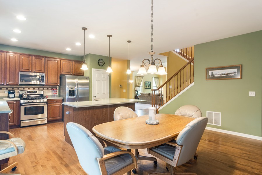 Real Estate Photography - 1017 Galena, volo, IL, 60073 - Breakfast Nook