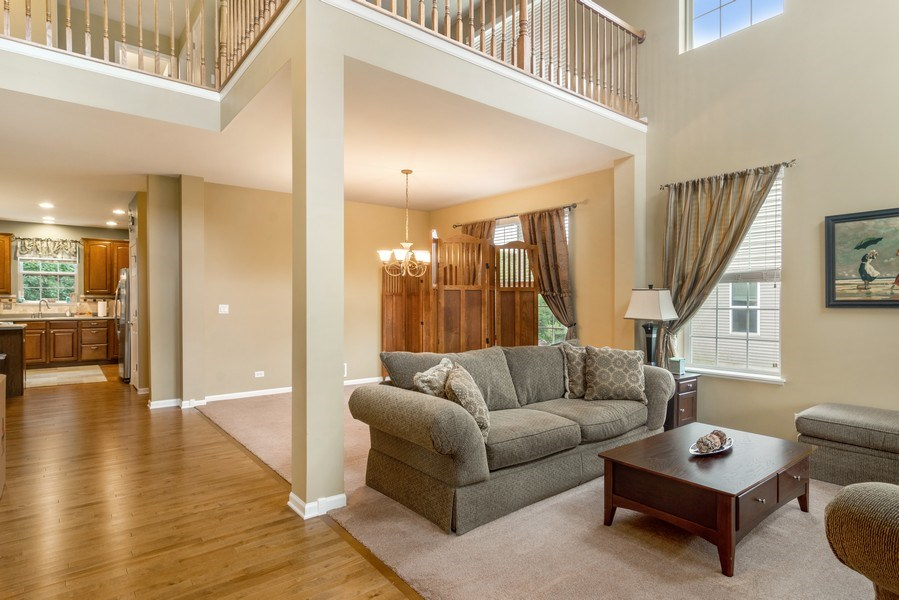Real Estate Photography - 1017 Galena, volo, IL, 60073 - Living Room / Dining Room