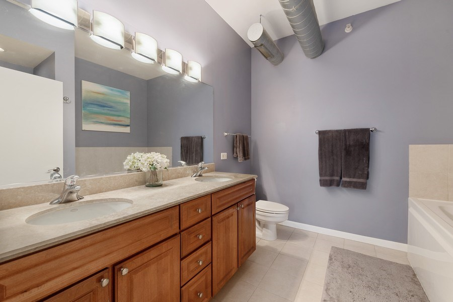 Real Estate Photography - 1200 W. Monroe St, 602, Chicago, IL, 60607 - Master Bathroom