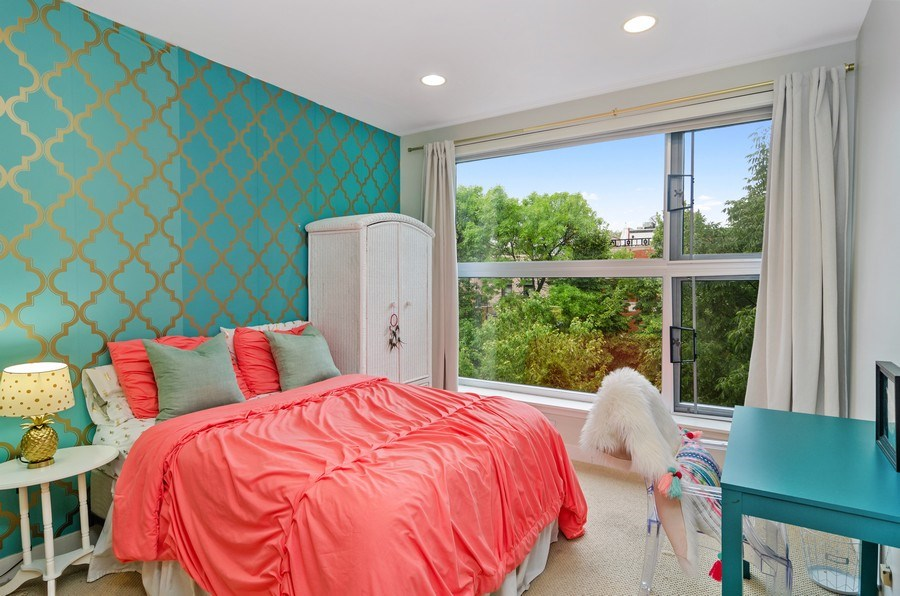 Real Estate Photography - 2141 W. Churchill Street, Chicago, IL, 60647 - Second Bedroom
