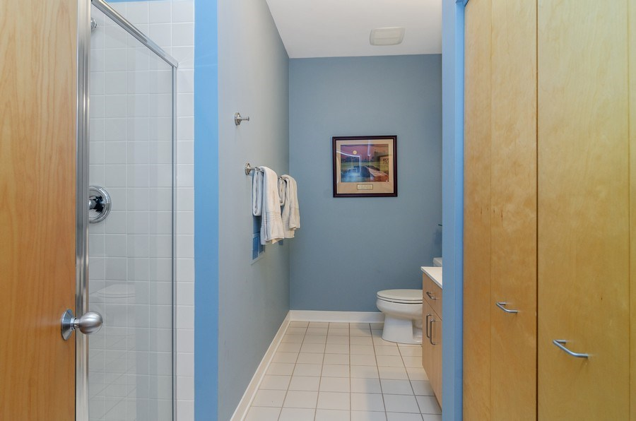 Real Estate Photography - 2141 W. Churchill Street, Chicago, IL, 60647 - Third Bathroom (lower level)