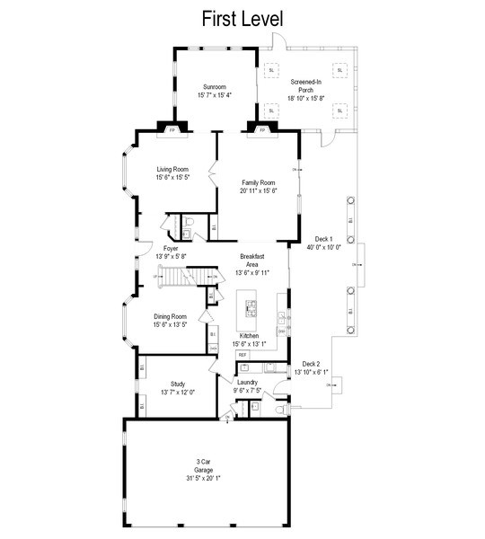 Real Estate Photography - 111 Woodland Drive, Lake Barrington, IL, 60010 - Floor Plan