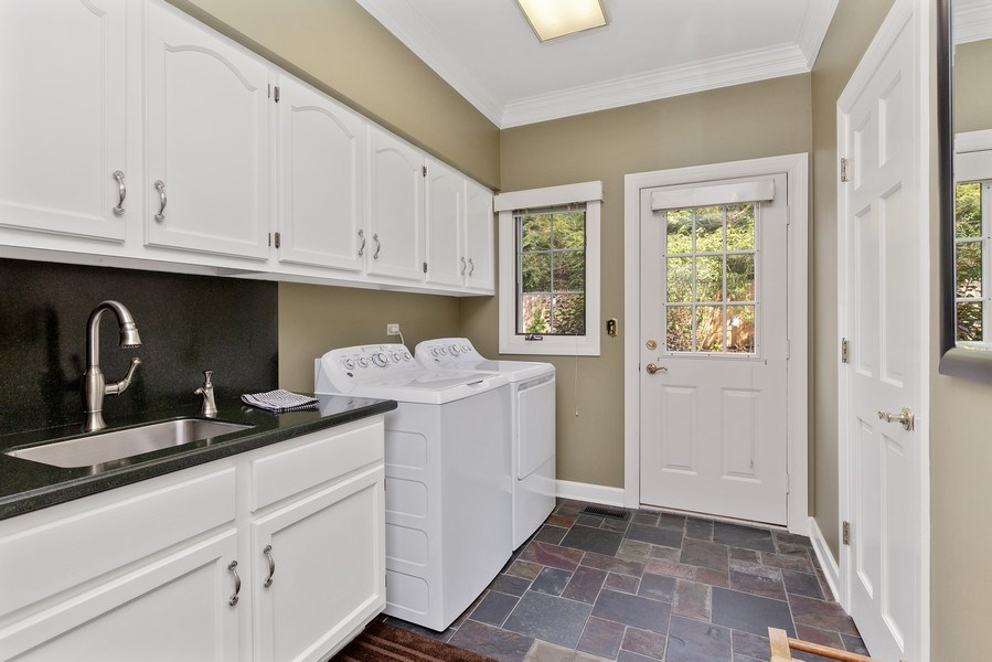 Real Estate Photography - 111 Woodland Drive, Lake Barrington, IL, 60010 - Laundry Room