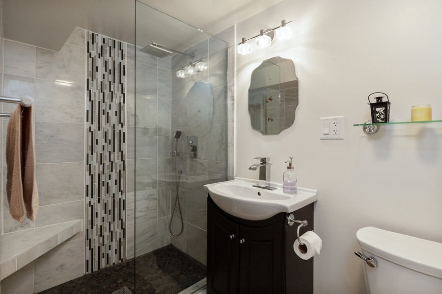Real Estate Photography - 7940 W Fletcher St, Elmwood Park, IL, 60707 - 3rd Bathroom