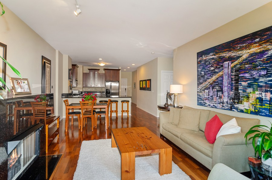 Real Estate Photography - 520 N. Halsted #308, Chicago, IL, 60622 - Living Room & Dining Room