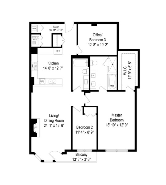 Real Estate Photography - 520 N. Halsted #308, Chicago, IL, 60622 - Floor Plan