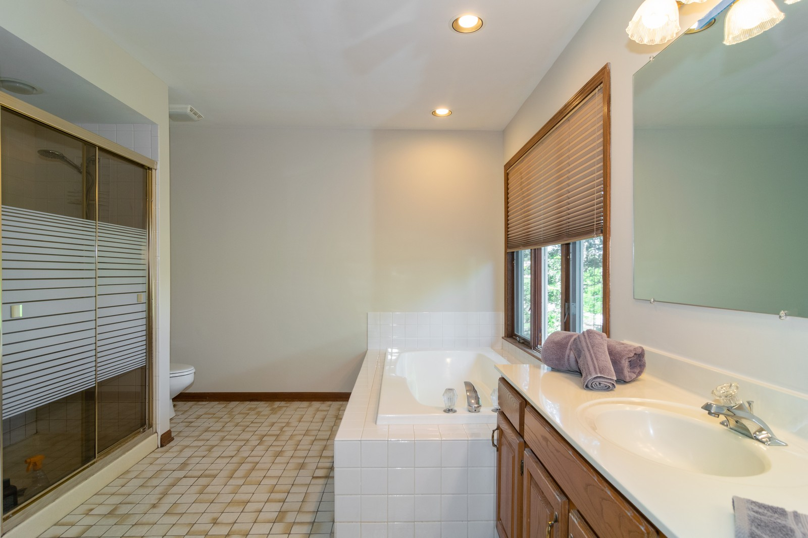Real Estate Photography - 1508 Eton, Arlington Heights, IL, 60004 - Master Bathroom