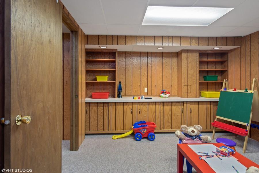 Real Estate Photography - 1508 Eton, Arlington Heights, IL, 60004 - Basement Office