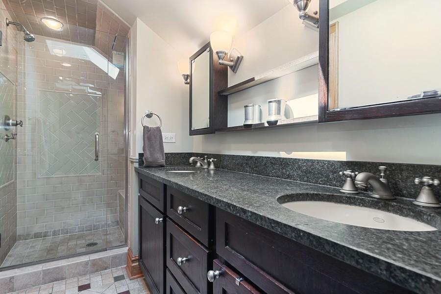Real Estate Photography - 1023 Wenonah, Oak Park, IL, 60304 - Master Bathroom